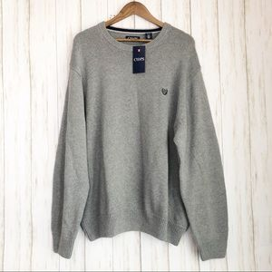 NWT Chaps gray crew neck sweater size 2x